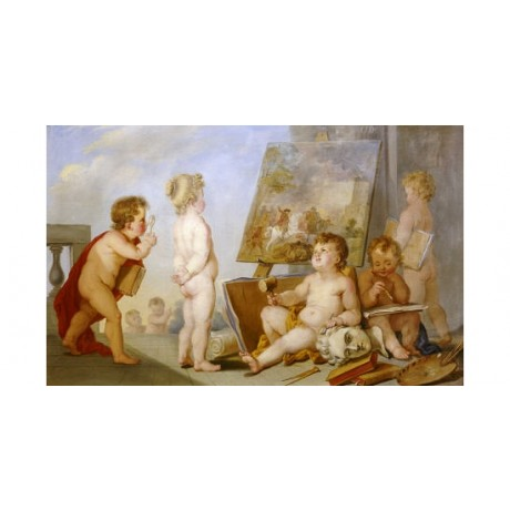 "CHARLES EISEN ""Une Allegorie Des Arts"" Nude ON CANVAS various SIZES available"