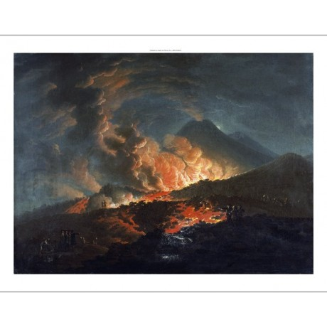 "JACQUES ANTOINE VOLAIRE ""Vesuvius Erupting"" PRINT choose SIZE, from 55cm up, NEW"