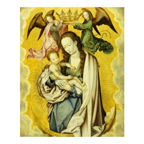 "ANONYMOUS ""Virgin And Child In Glory"" RELIGIOUS choose SIZE, from 55cm up, NEW"