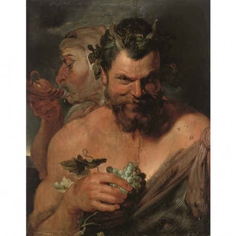 "AFTER PETER PAUL RUBENS ""Two Drunken Satyrs"" mischievous grin NEW CANVAS PRINT"