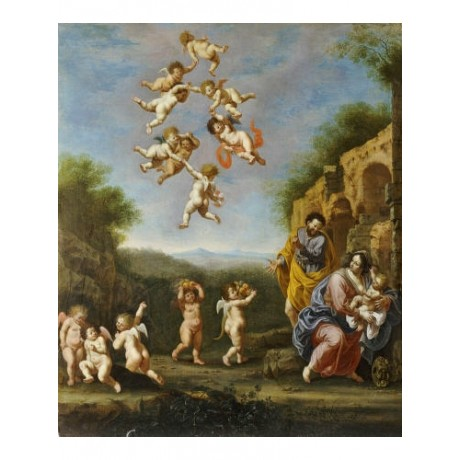 "ADRIAEN VAN NIEULANDT ""Flight Into Egypt"" nude PRINT various SIZES available"