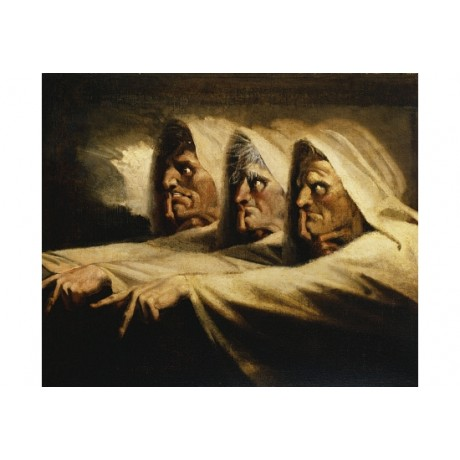 HENRY FUSELI Three Witches, Or The Weird Sisters CANVAS various SIZES, BRAND NEW