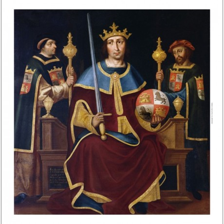 VICENTE JUAN MACIP Saint Ferdinand Enthroned CANVAS! various SIZES available