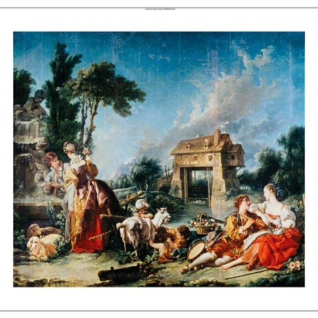 "FRANCOIS BOUCHER ""Fountain Of Love"" print NEW CANVAS various SIZES available"
