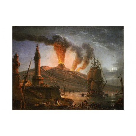 CHARLES- FRANCOIS GRENIER DE LA CROIX Vesuvius choose SIZE, from 55cm up, NEW