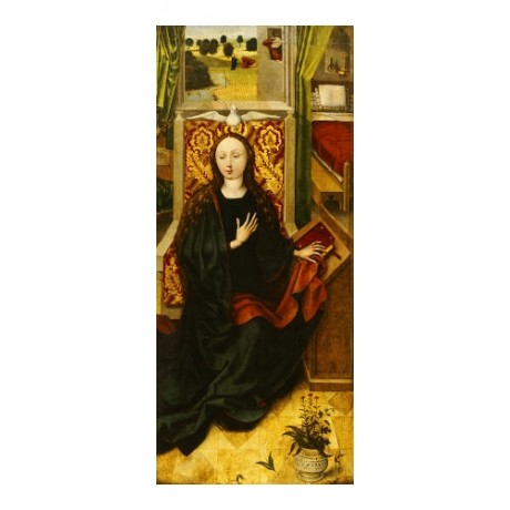 ANONYMOUS Virgin Annunciate religious PRINT CANVAS choose SIZE, from 55cm up