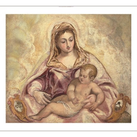"JACOPO ROBUSTI ""The Madonna and Child"" christian CANVAS various SIZES, BRAND NEW"