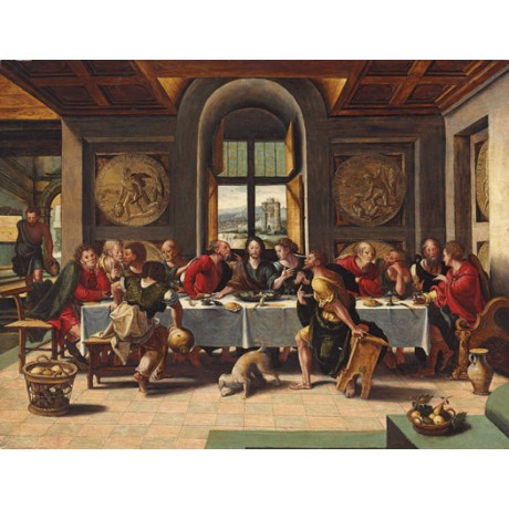 "PIETER COECKE VAN AELST ""The Last Supper"" jesus CANVAS various SIZES, BRAND NEW"