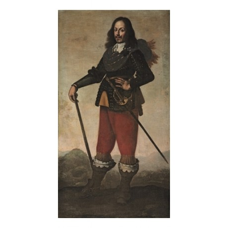 After DE ZURBARAN An Officer, in Armour, Wearing a Sword BATTLE hilltop CANVAS