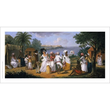 AUGUSTIN BRUNAIS Natives Dancing PRINT ON CANVAS choose SIZE, from 55cm up, NEW