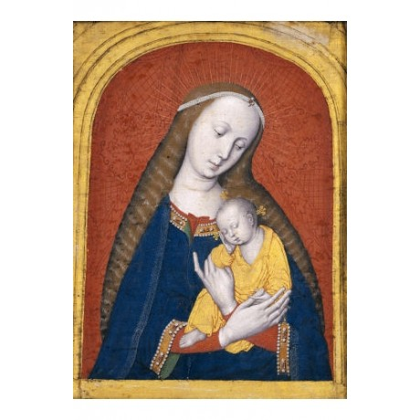 "ANONYMOUS ""Virgin And Child Tempera"" print religious various SIZES available"
