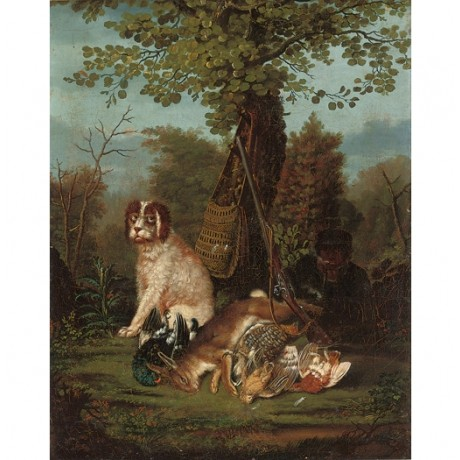 "JOHANN FRIEDRICH SEUPEL ""Huntsman at Rest with Hound"" various SIZES, BRAND NEW"