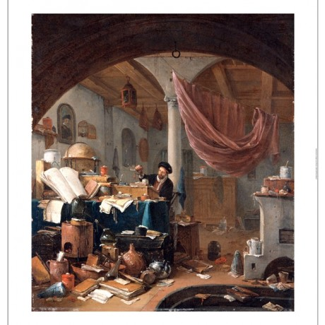 THOMAS WYCK An Alchemist In His Study new CANVAS print! various SIZES, BRAND NEW