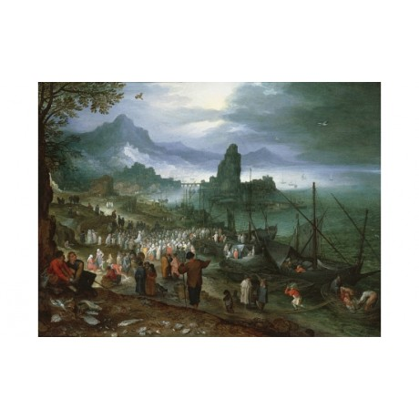 JAN BREUGHEL ELDER Christ Preaching On Sea Of Galilee various SIZES, BRAND NEW