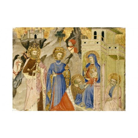 "CENTRAL ITALIAN SCHOOL ""Adoration Of Magi"" print choose SIZE, from 55cm up, NEW"