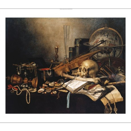"PIETER CLAESZ ""A Vanitas, With A Skull"" BROWSE our SHOP various SIZES, BRAND NEW"