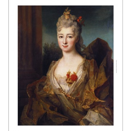 "NICOLAS DE LARGILLIERE ""Portrait Of A Lady"" ON CANVAS! various SIZES, BRAND NEW"