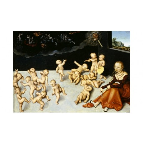 "LUCAS CRANACH I ""Melancholia"" print ON CANVAS NEW choose SIZE, from 55cm up, NEW"
