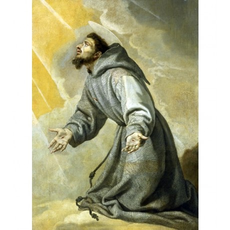 VICENTE CARDUCHO Saint Francis Receiving the Stigmata BELIEF halo CANVAS PRINT