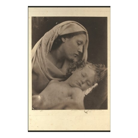 "NEW CANVAS PRINT of classic JULIA MARGARET CAMERON image ""Madonna and Child"""