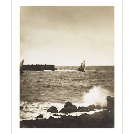 """GUSTAVE LE GRAY """"The Broken Wave"""" boat sea new CANVAS! various SIZES, BRAND NEW"""