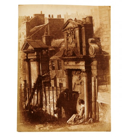 "HAUNTING CANVAS print of rare photo ""Covenanter's Tomb, Edinburgh"" HILL/ADAMSON"