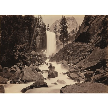 "NEW CANVAS PRINT of CARLETON WATKINS photograph ""Vernal Fall, Yosemite Valley"""