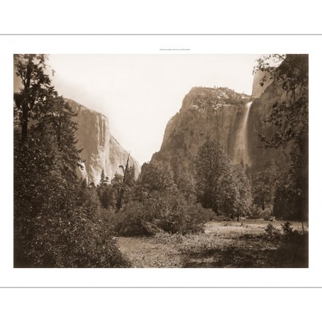 "NEW CANVAS PRINT of Carleton WATKINS photo ""Tutocanula Pass, Yosemite Valley"""