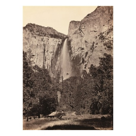 "NEW CANVAS PRINT of CARLETON WATKINS photo ""Pohono, Bridal Veil Fall, Yosemite"""