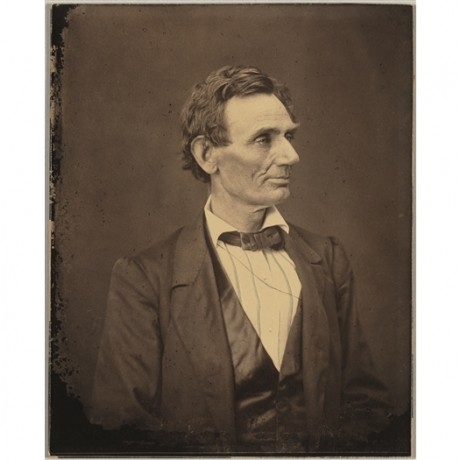 """HIGHLY DESIRABLE CANVAS of RARE photograph of """"Abraham Lincoln"""" HESLER & AYRES"""