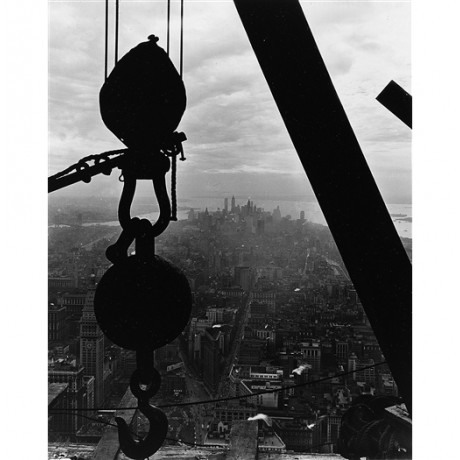"BREATHTAKING CANVAS PRINT of LEWIS HINE photo ""Lower Manhattan"" empire state!"