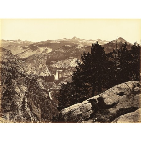 "CANVAS PRINT ""Vernal and Nevada Falls, from Glacier Point"" CARLETON E. WATKINS"