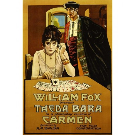 CANVAS PRINT of vintage poster of the SCREEN'S FIRST FEMME FATALE Carmen giclee