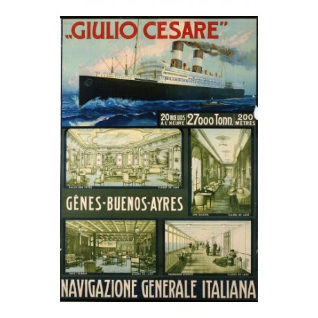 ANONYMOUS Navigazione Generale Italiana PRINT NEW choose SIZE, from 55cm up, NEW