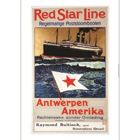 Red Star Line, Antwerpen America new CANVAS print! choose SIZE, from 55cm up
