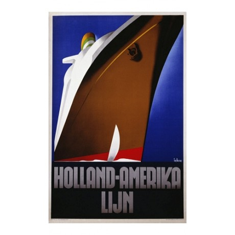"""Holland Amerika Lijn"" NEW CANVAS of classic POSTEr various SIZES available"