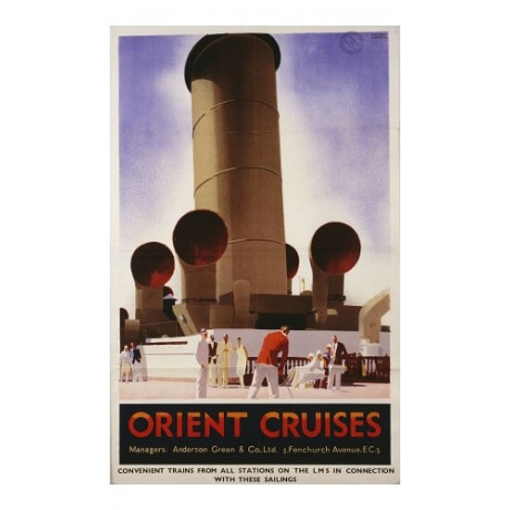 """Orient Cruises"" NEW CANVAS PRINT of classic POSTER! various SIZES available"
