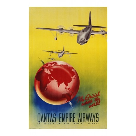 """Qantas Empire Airways"" PLANE new CANVAS of poster! various SIZES available"