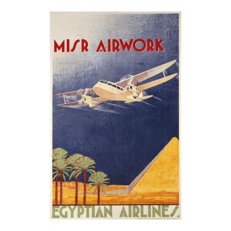 """Misr Airwork, Egyptian Airlines"" NEW PRINT of POSTER! various SIZES available"