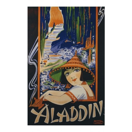 "ANONYMOUS ""Aladdin"" NEW CANVAS PRINT of classic poster various SIZES available"