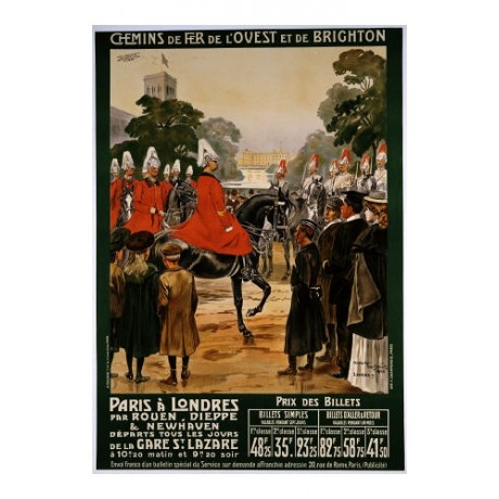 "MAURICE TOUSSAINT ""Paris A Londres"" military print NEW various SIZES, BRAND NEW"
