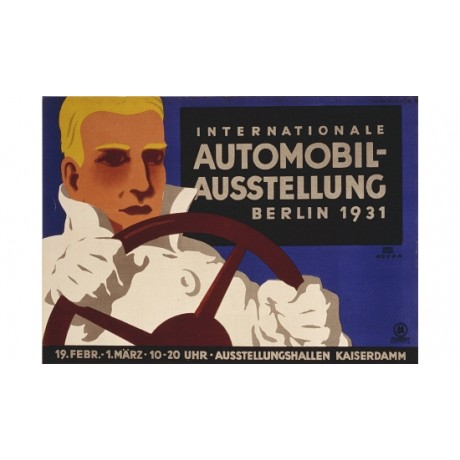"""Automobil-Austellung, Berlin 1931"" NEW CANVAS PRINT! various SIZES available"
