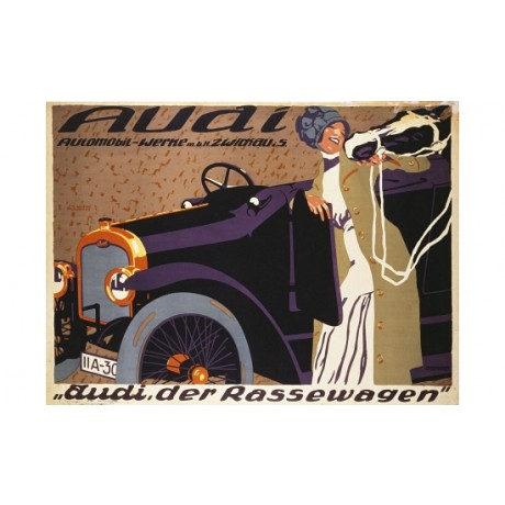"JOSEF R. WITZEL ""Audi"" car new CANVAS see our shop! various SIZES available, NEW"