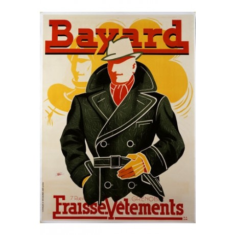 "ANONYMOUS ""Bayard, Fraise Vetements"" print NEW choose SIZE, from 55cm up, NEW"