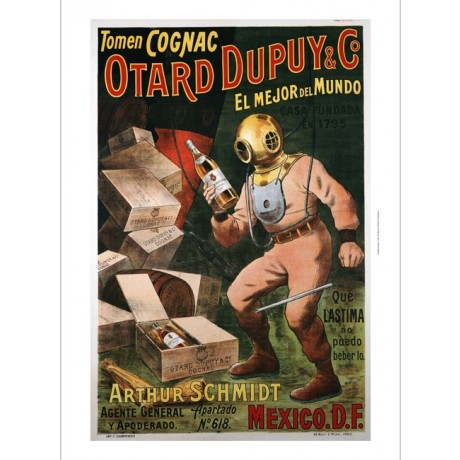 "ANONYMOUS ""Cognac Otard Dupuy & Co"" print ON CANVAS various SIZES available, NEW"