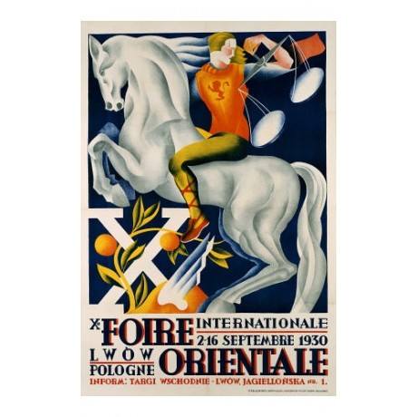 "ANONYMOUS ""Xe Foire Orientale"" print ON CANVAS choose SIZE, from 55cm up, NEW"