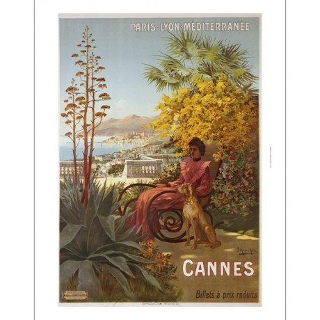 "HUGO F D'ALESI ""Cannes"" print NEW ON CANVAS, stunning! various SIZES, BRAND NEW"