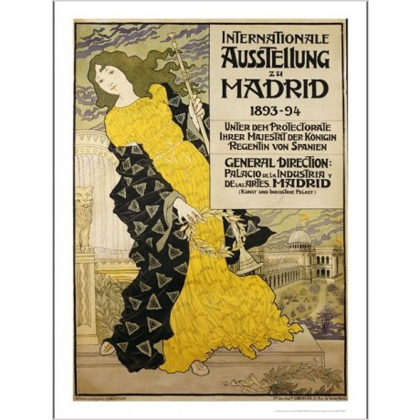 EUGENE GRASSET Internationale Ausstellung Zu Madrid ART various SIZES, BRAND NEW