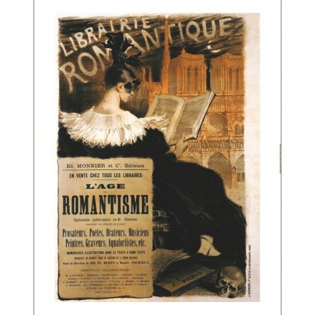 "EUGENE GRASSET ""Librairie Romantique"" print NEW choose SIZE, from 55cm up, NEW"