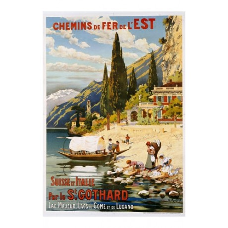 "G. KRALLT ""Suisse Et Italie Par Le St Gothard"" Print various SIZES available"